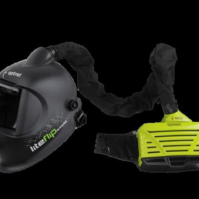 Cagoule ventilee liteflip autopilot ventilateur optrel e3000
