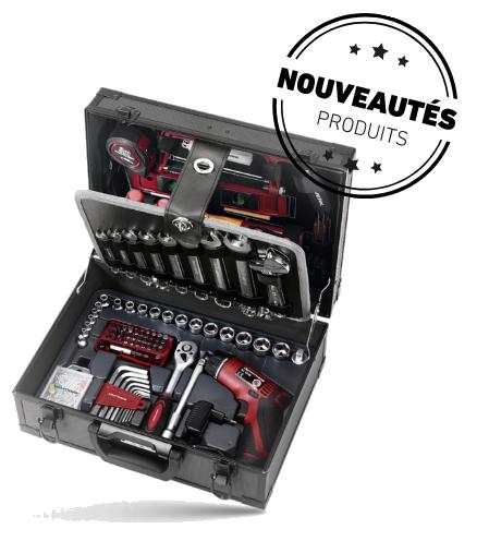 Mallette outils aluminium kraftwerk 163 pieces mds