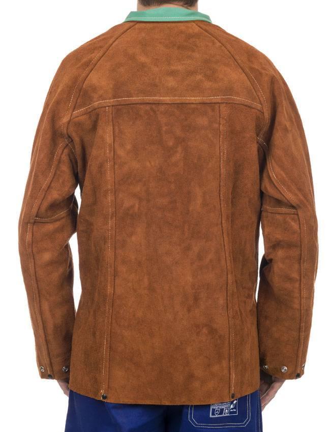 Socomo lava brown veste soudage cuir complet 2
