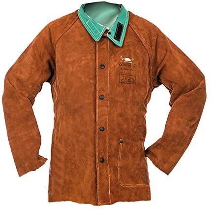 Socomo lava brown veste soudage cuir complet
